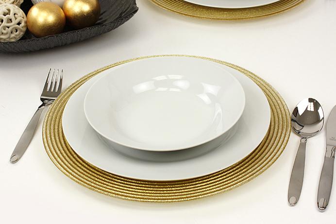 Platzteller dekoteller aus glas gold oro sat sayfas - Dekoteller gold ...