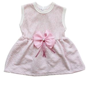 Pembe Kurdelalı Pembe Kız Bebek Elbise