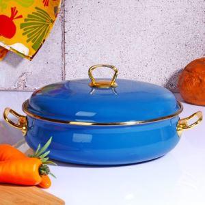 Kitchen World Navy Blue-109 26 Cm Emaye Karnıyarık Tenceresi