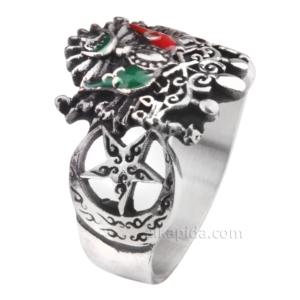 Osmanlı Armalı Gümüş Erkek Yüzük EGY45