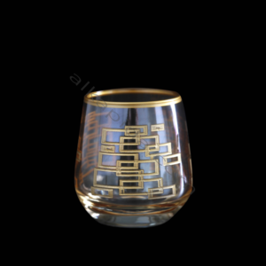 Çınar Kristal 6 Adet Kutu Kare Amber Fıçı Kahve Yani Bardak