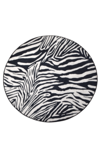 Chilai Home Zebra Dekoratif Halı Djt Çap 100 Cm