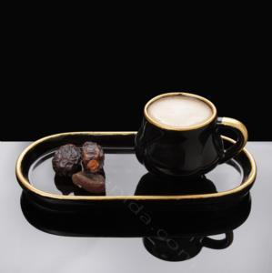 Fatih 2 Parça Seramik Kahve Fincanı Siyah