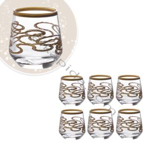 Çınar Kristal 6 Adet Zincir Sade Fıçı Kahve Yani Bardak