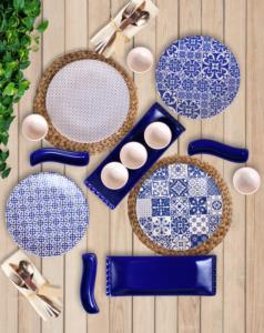 Keramika Blue Kahvaltı Takımı 15 Parça 4 Kişilik 17925-26-27-28