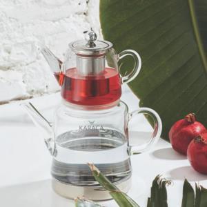 Karaca Dora Cam Çaydanlık