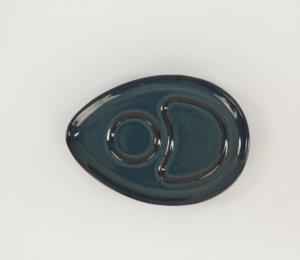 Keramika Reaktif Lacivert Damla Çay Sunum Seti 4 Parça 2 Kişilik