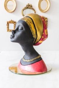 Arma House Dekoratif Afrikalı Kadın Biblo (1)