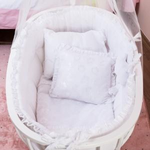 Aybi Baby Dantelli Beyaz Beşik Tekstili 3505
