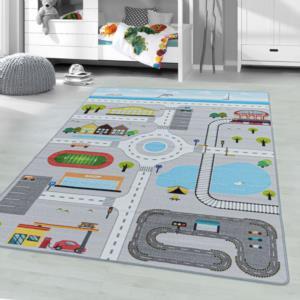 Ayyıldız Halı Play Polyamid Çocuk Halısı 2902 Grey