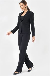 Pantolon Ceket Kreptakım Siyah