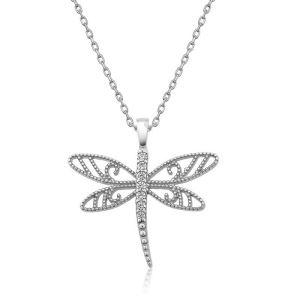 Gümüş Yusufçuk Bayan Kolye
