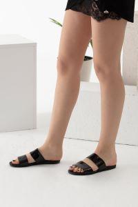 Moda Eleysa Bantlı Siyah Terlik MODAELYSA0276