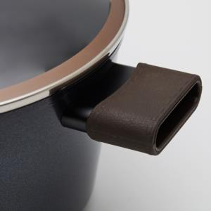 Neoflam Nobless Cam Kapaklı Alüminyum Derin Tencere 24×12 Cm