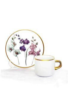 Asena Türk Kahve Seti 6 lı Orkide