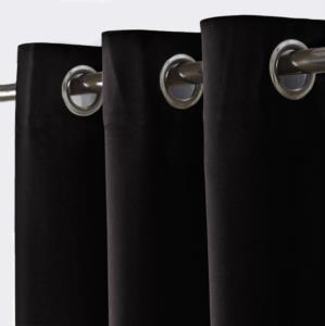 Kozzy Home Blackout Karartma Rustik Perde Siyah RFE0650