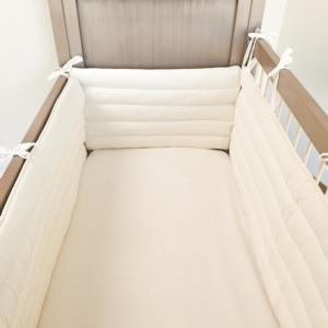 Aybi Baby 3 Parça Basic Krem 60 x 120 cm Kenar Koruma Seti 4012