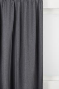 Belle Cose Keten Görünümlü 140x270cm Tek Kanat Antrasit Fon Perde