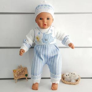 Fil Desenli Triko 3 lü Erkek Bebek Takım