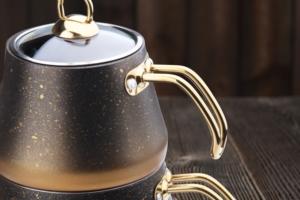Oms Büyük Boy Granit Çaydanlık 8200 Gold