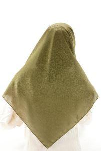 Kofra Desenli - Çimen Yeşili - Baş Örtüsü