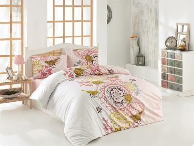 Evlen Home 4 Parça Gülbahçe Pink Çift Kişilik Nevresim Takımı NEV-00025