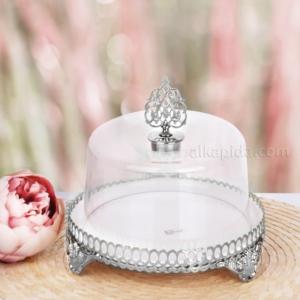 Zerden Fırat Gümüş Mini Boy Kek Fanusu