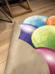 Markaev 3D Polyester 140x200 PVC Tabanlı Halı 6007