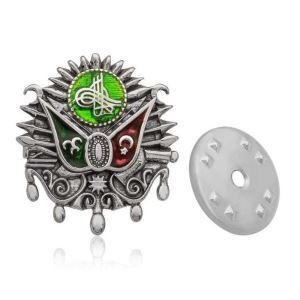 Gümüş Osmanlı Devlet Arması Rozet