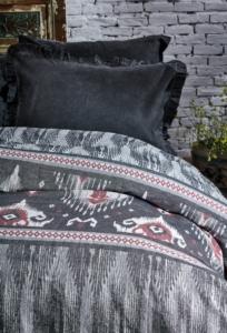 Ecocotton Organik Pamuk Çift Kişilik Peştamal Yatak Örtüsü Evin Antrasit