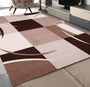 Merinos Diamond Hand Curved Halı 665 80 Brown