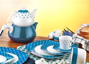 Evimsaray 36 Parça Kare Porselen Kahvaltı Takımı ES-915