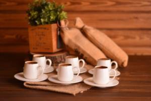 Bambum Hassa 6 Kişilik Kahve Fincan Takımı Altın Yaldızlı