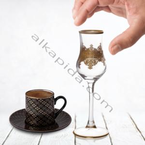 Çınar Kristal 6 Adet Ottoman Sade Bistro Kahve Yani Bardak