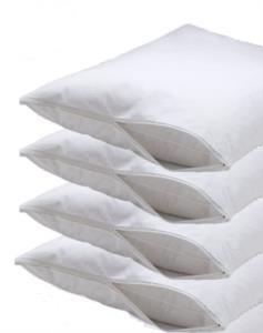 Fermuarlı 4 Adet Yastık Koruyucu Kılıf 50x70cm -Beyaz