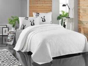 Eponj Home Paint Pike Takımı Çift Kişilik Panda Beyaz