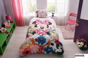 Taç 8266 Lisanslı Tek Kişilik Yorgan Seti Disney Minnie