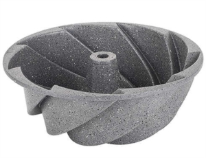 Tantitoni Gri Rüzgargülü Granit Döküm Kek Kalıbı KONT GD1419GK