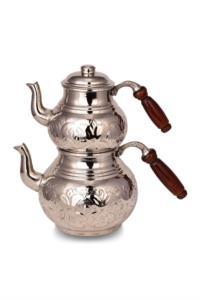 Saint Belisama Klasik Kalın Bakır Çaydanlık Orta Boy El İşlemeli SB19542