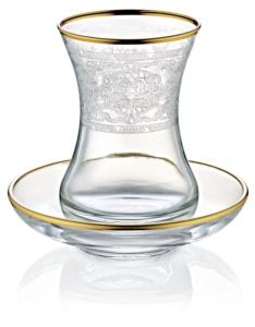 Noble Life 12 Parça Margin Gold Çay Bardak Takımı 28823