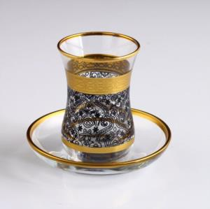 Akba Şöhret Siyah V2 Çay takımı