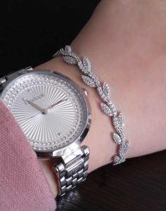 Gümüş Yaprak Bayan Bileklik