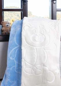 Özdilek Embos Mavi 100 x 120 cm Bebek Battaniyesi