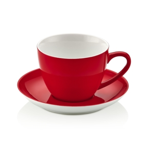 Noble Life Şeker Serisi Kırmızı Çay Fincan Takımı 25549