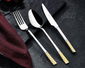 Özlife Enza Gold 90 Parça Çatal Kaşık Bıçak Takımı (Sandıklı)- 371