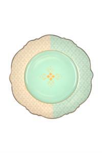 Acar  24 Parça Alin Gold Motif Işlemeli Porselen Yemek Takımı