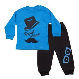 Küçük Adam Mavi Siyah 2 li Erkek Bebek Takım