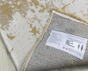 Koza Halı Casa Cotton Hardal-Vizon Kilim- B2694A