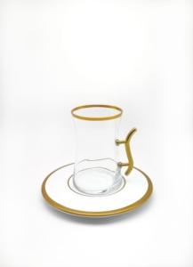 Özcam Kristal 12 Parça Kulplu Çay Takımı D-1409