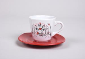 Keramika Keyfi Aşk Kahvaltı Takımı 14 Parça 2 Kişilik